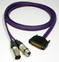 SINGLE CHANNEL AES/EBU DB25 to XLR - Product Image